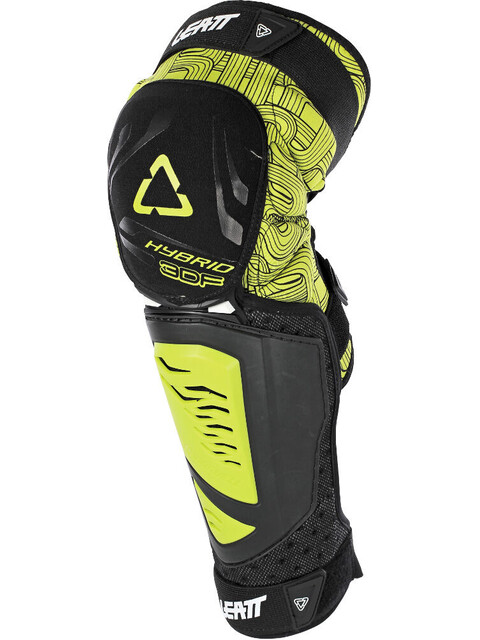 Leatt Brace 3DF Hybrid EXT Knee & Shin Guard black/lime